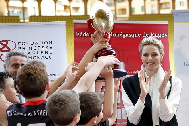 Фонд принцессы Шарлен организовал день регби