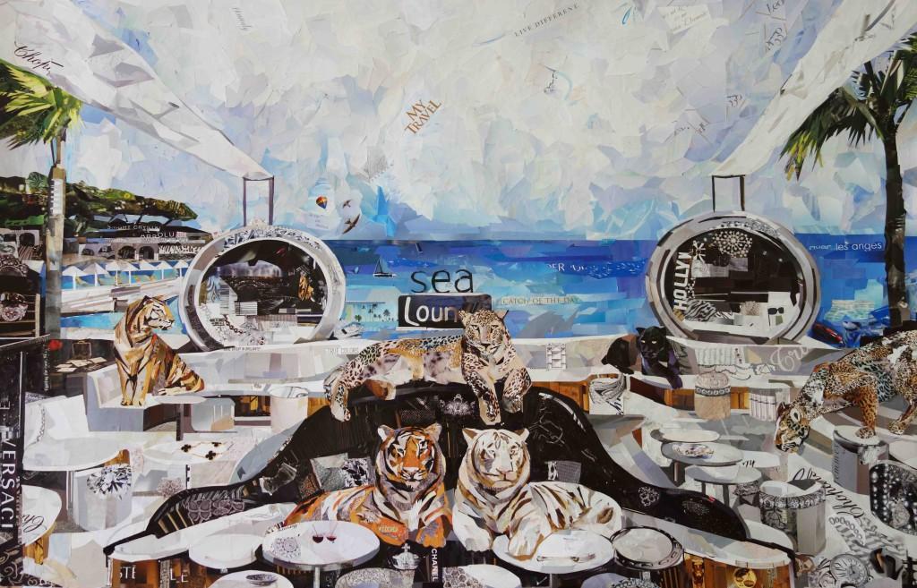 Картина Дарьи Усовой с тиграми